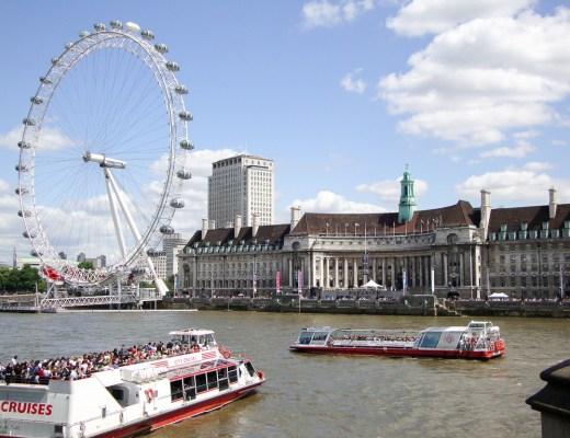 England UK, London, London Eye River Thames