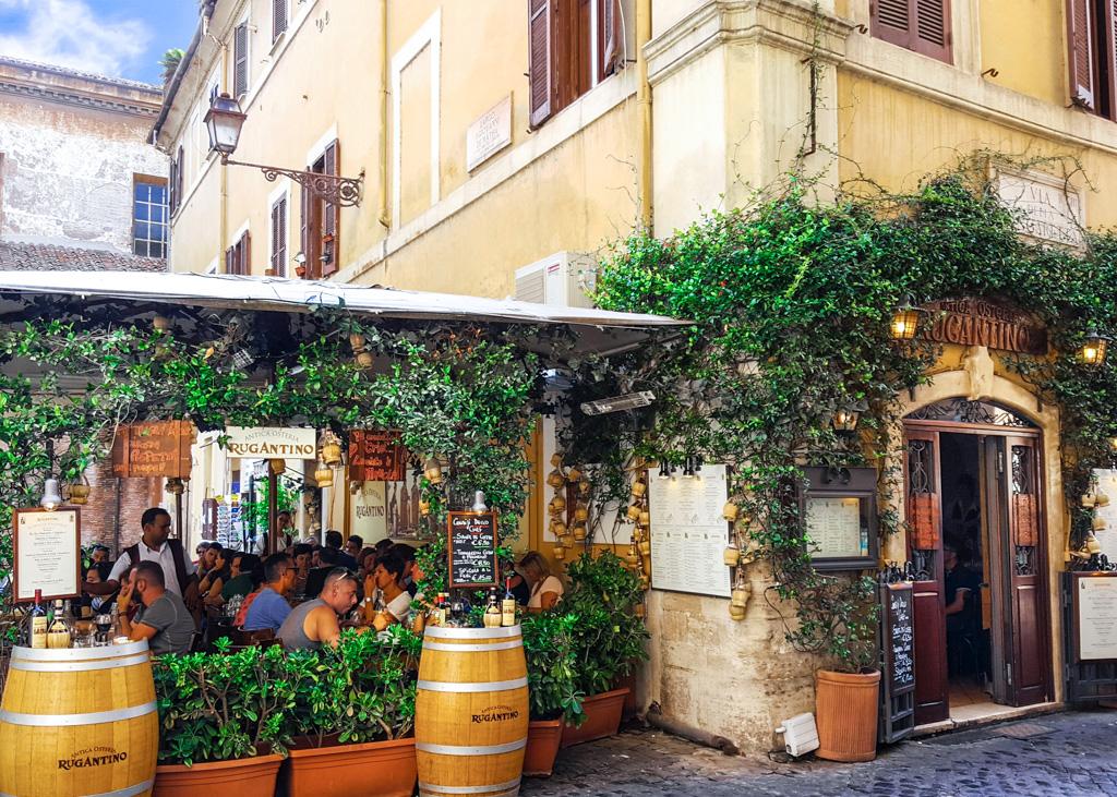 Restaurant in Trastevere_Rome_Italy
