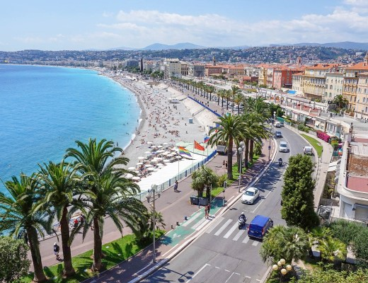 Nice, Cote d'Azur, France seen from Castle Hill