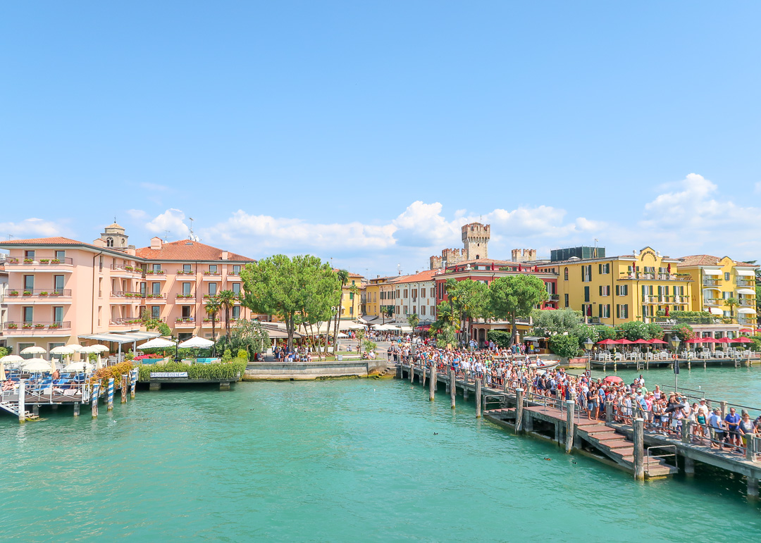 Approaching Sirmione by ferry