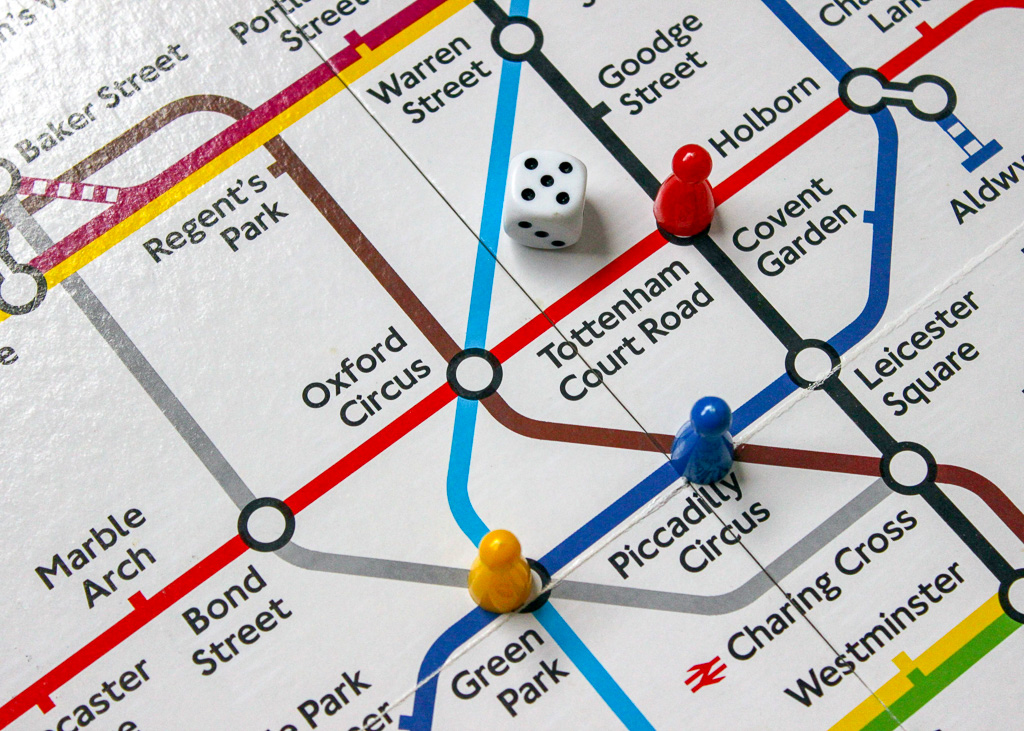 Partial London Tube Map, by philm1310 on Pixabay