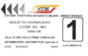 Milan Biglietto Giornaliero_New Tariff System 2019