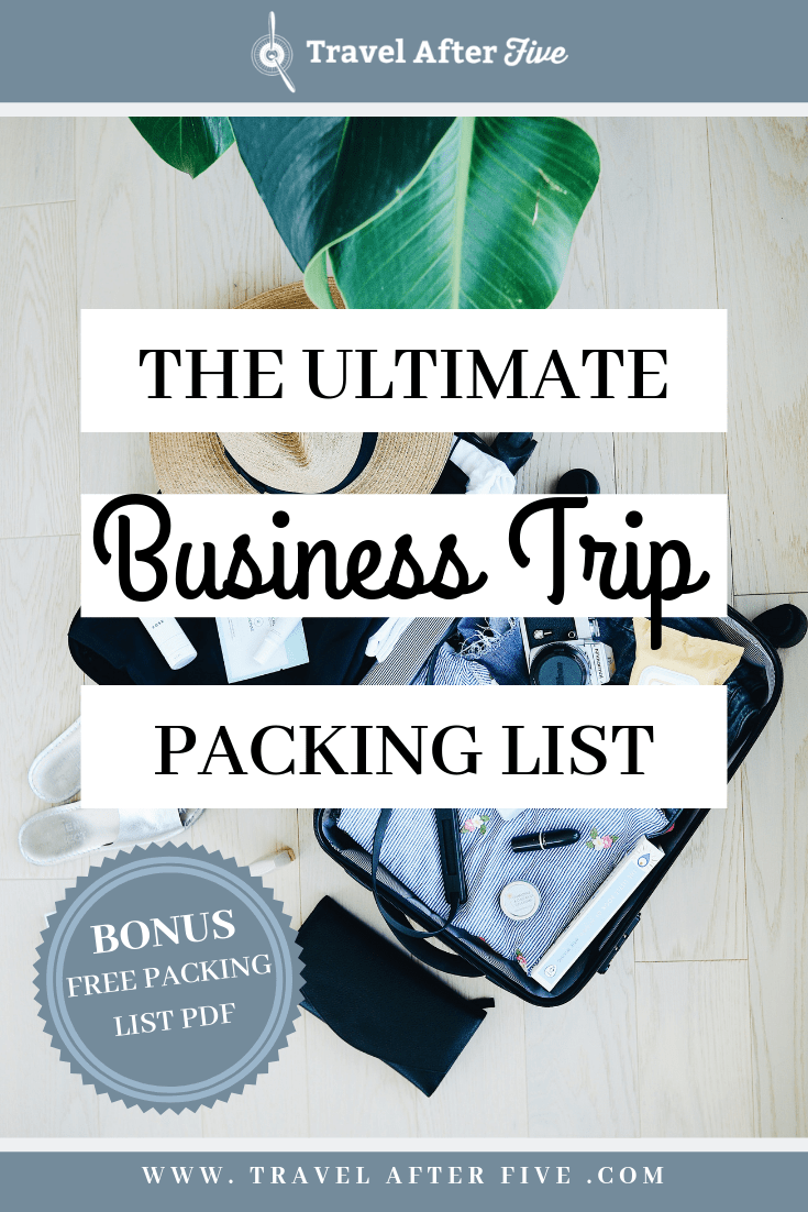 If you are going on a work trip, you need the Ultimate Business Trip Packing List. This list covers what clothes to refresh each week, what toiletries to leave in your bag, what items should be in your work bag, and what you can expect in your hotel. In addition, get a free pdf download of the Business Trip Packing List, so you can check off everything you need before your trip for work.