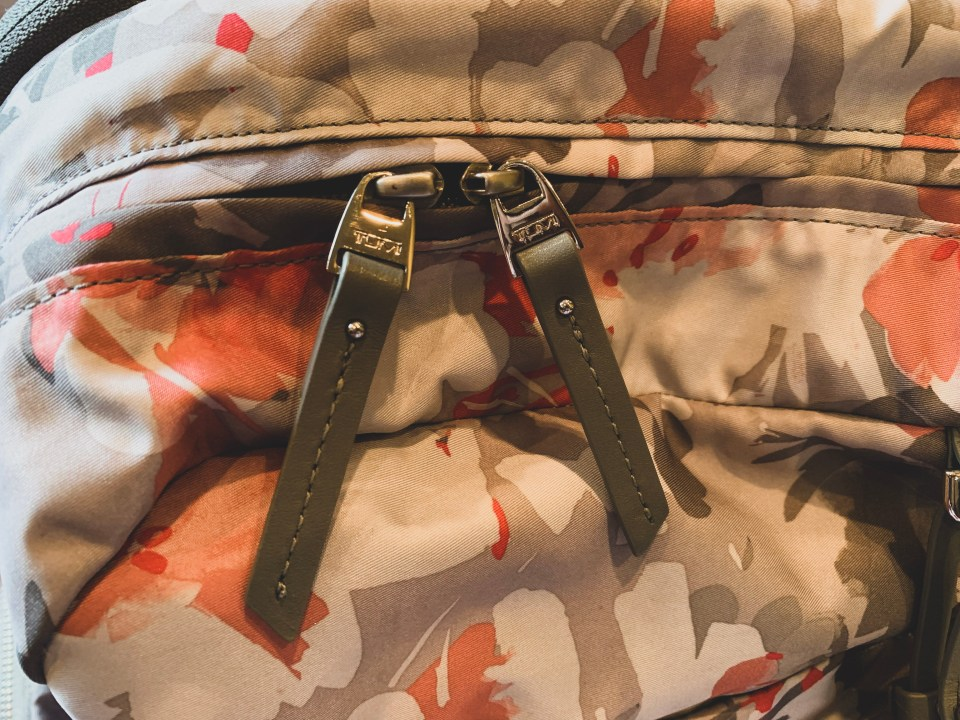 TUMI Professional Women's Backpack Zipper