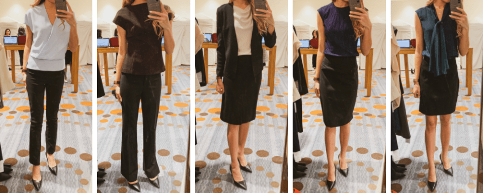 MMLaFleur Trying on Separates - 5 Outfits