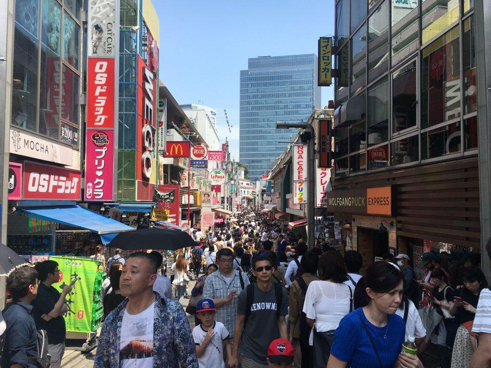 Takeshita Street in Harajuku Tokyo Afternoon