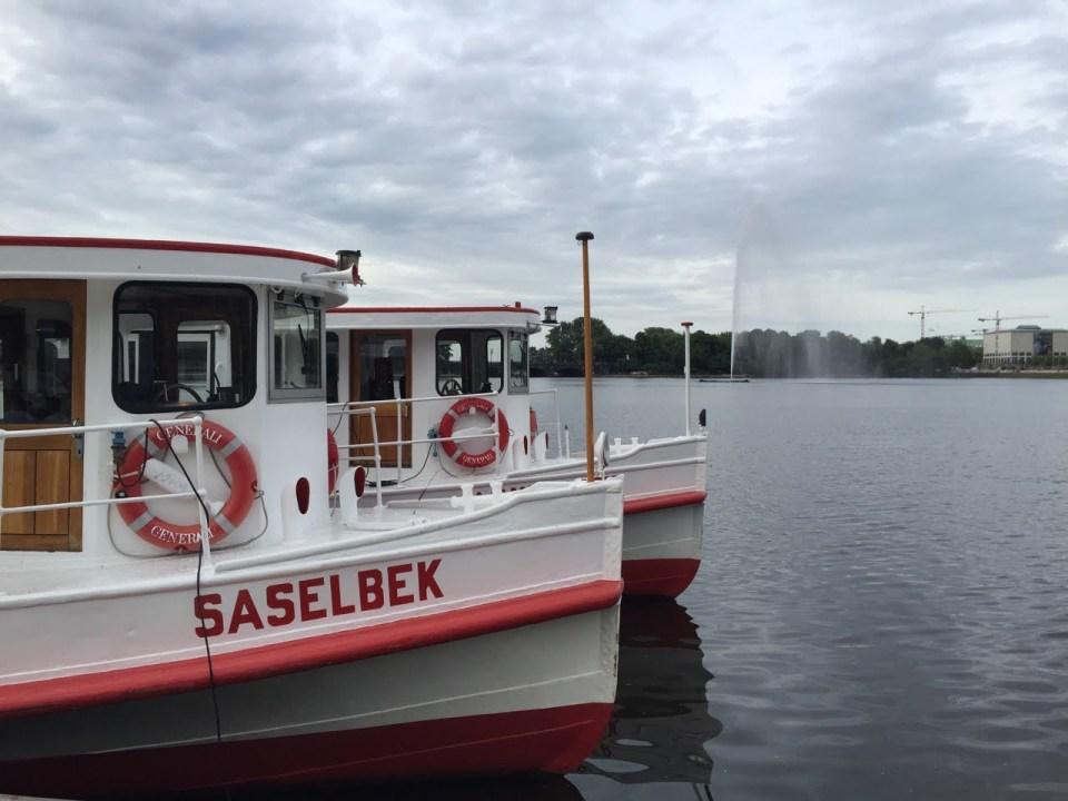 Alster boat tour Hamburg after work