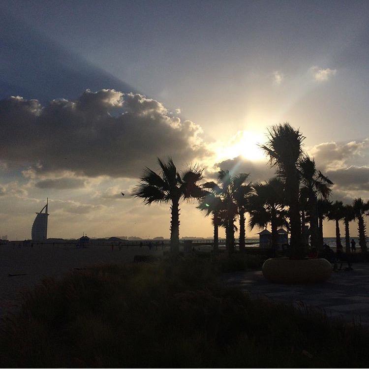 Dubai beach after work