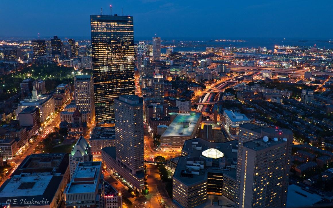 boston in the evening