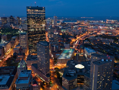 boston in the evening