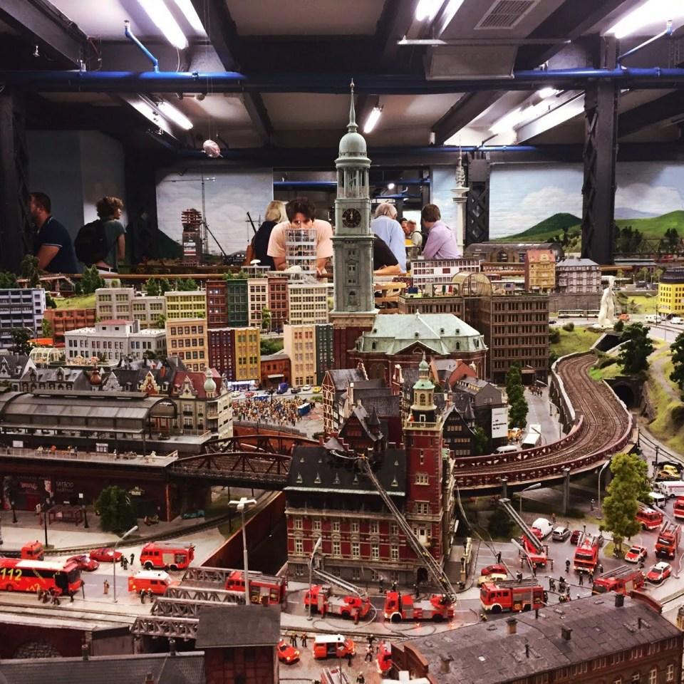 Miniature Wunderland Hamburg after five