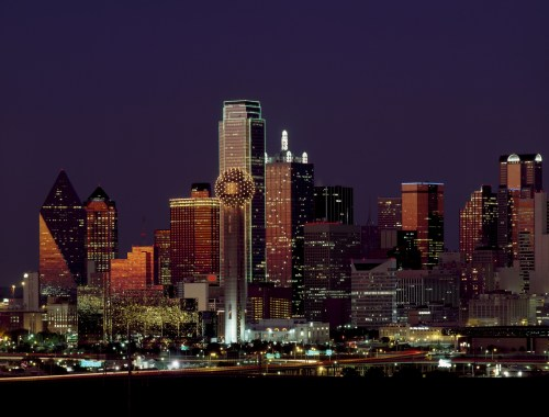 dallas in the evening