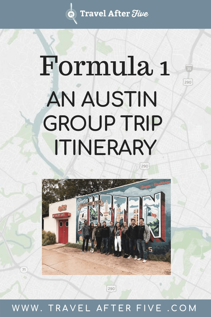 If you are going to Austin, Texas with a group then you may want to check out what we did in our Austin group trip itinerary. When looking at places to go in Austin, there\'s plenty to see. We went during the Formula 1 race, but also saw Austin murals, ate Texas BBQ, and had brunch at Kerbey Lane and Blue Dahlias. We even visited the Texas State Capitol in Austin! Austin has so much to offer for a group, and can definitely make a great weekend or five day trip.