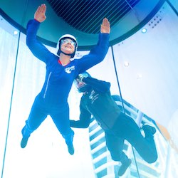 <p>In addition to a skydiving simulator, Quantum of the Seas offers keyless entry to staterooms and robotic bartenders. // © 2014 Royal Caribbean...