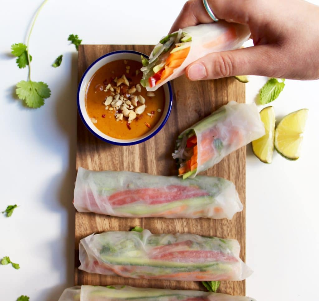 how to make peanut sauce for vietnamese spring rolls