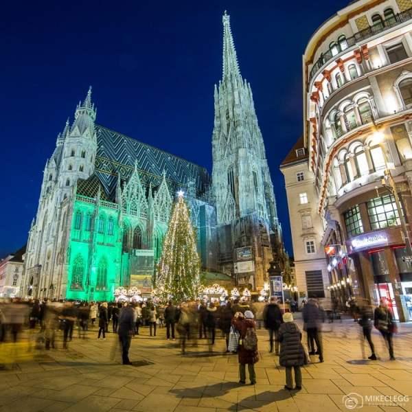 Stephansdom, Viena à noite