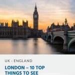 Pinterest - Londres - 10 melhores coisas para ver