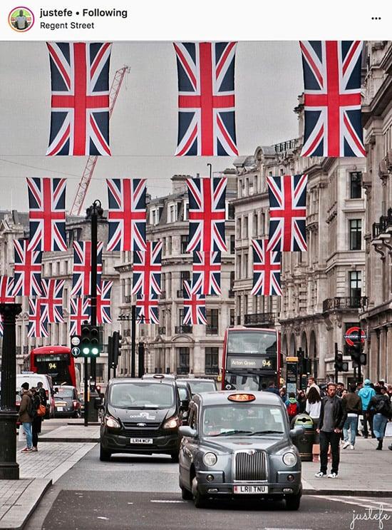 Fotógrafos do Instagram de Londres - @justefe