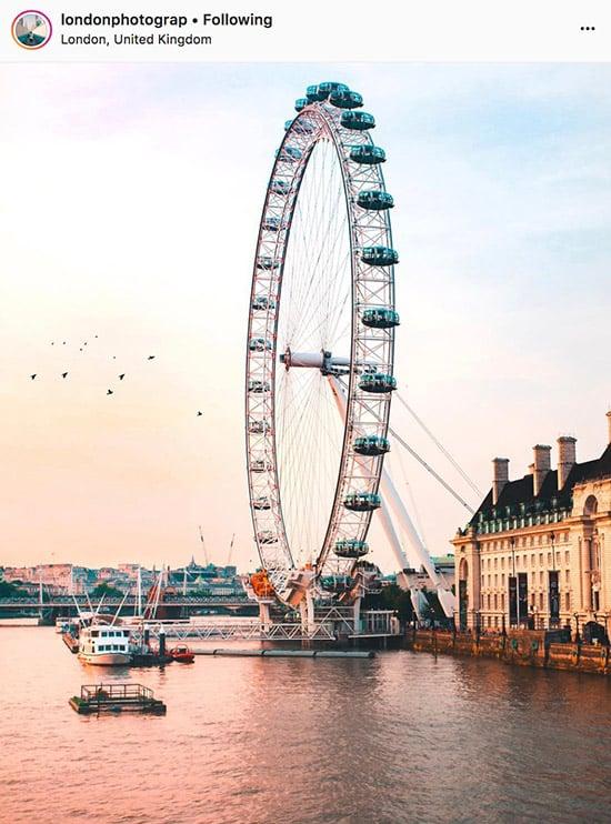 Fotógrafos do Instagram de Londres - @londonphotograp