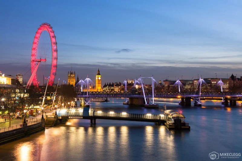 Skyline de Londres à noite