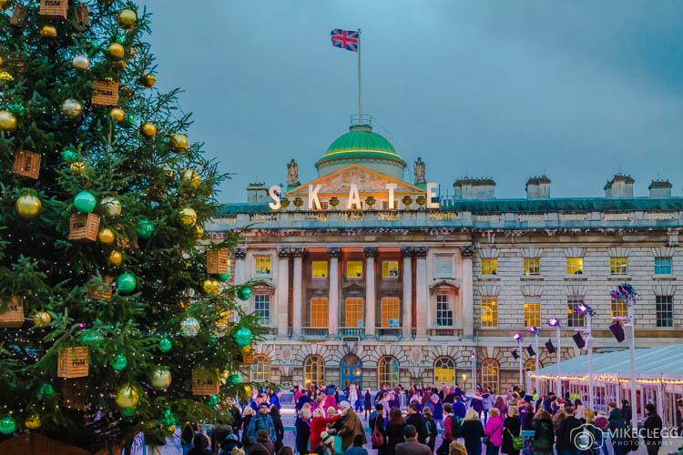 Somerset House em Londres no Natal