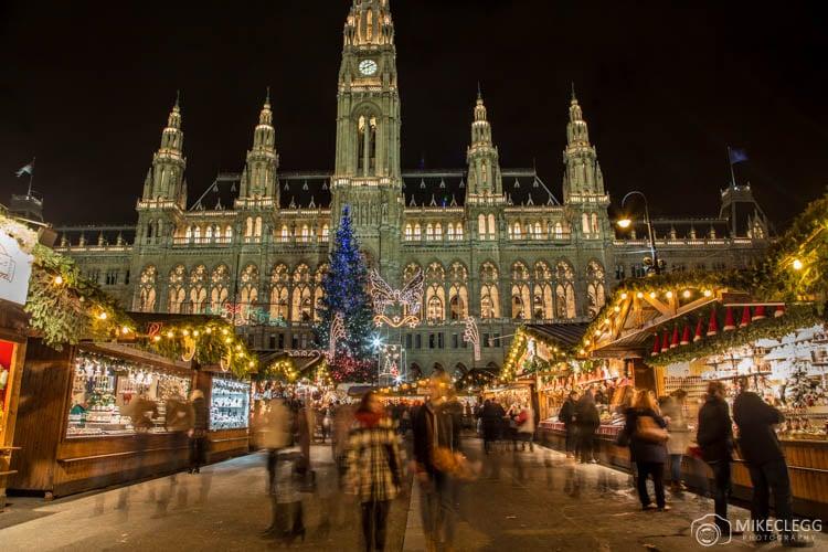 Mercado de Natal de Viena na Rathausplatz