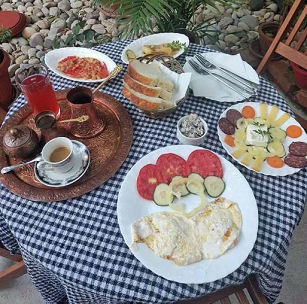 Café da manhã em uma pousada