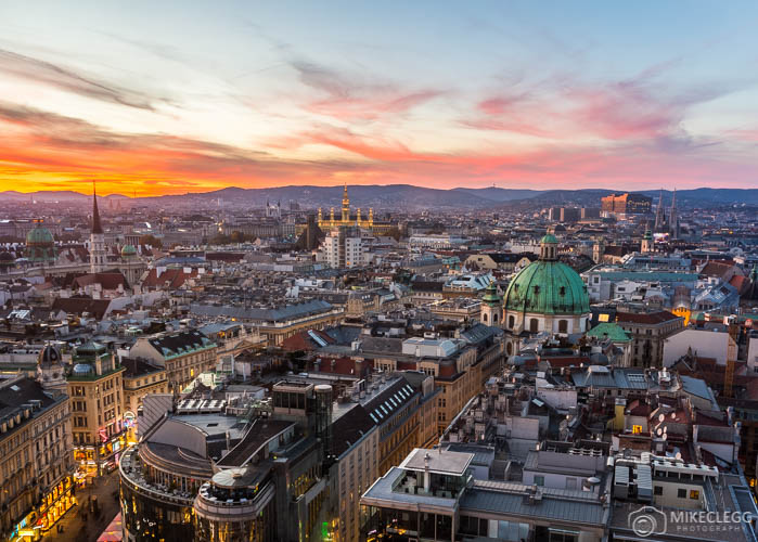 Skyline de Viena a partir da Torre Stephansdom South