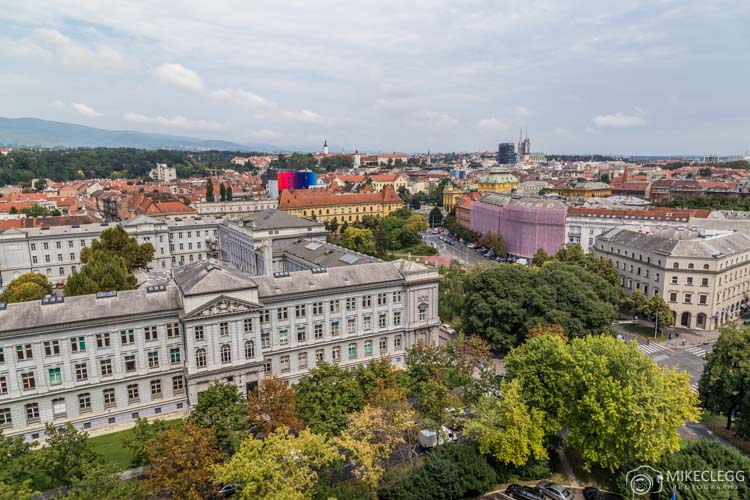 Vistas do Westin Hotel em Zagreb
