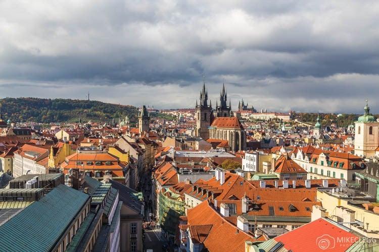 Vista da Torre da Pólvora, Praga