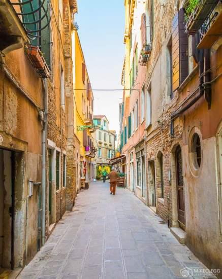 Ruas estreitas, Veneza