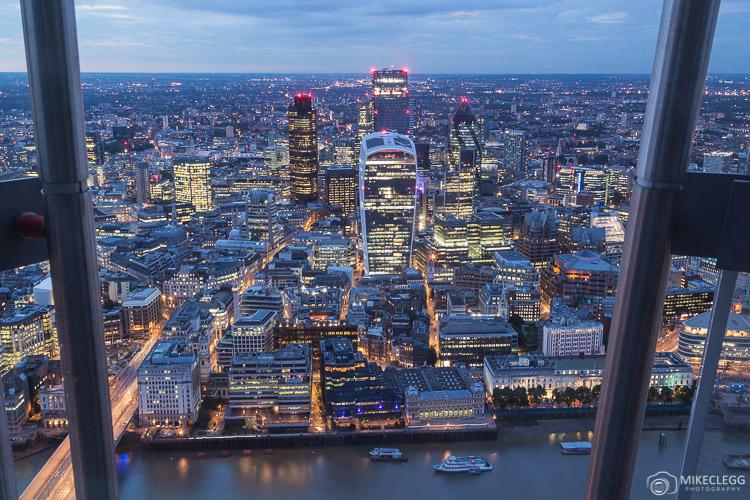Vista do convés de observação Shard, Londres