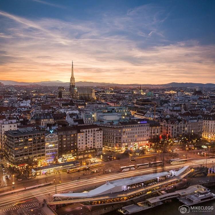 Vistas do horizonte de Viena do Sofitel
