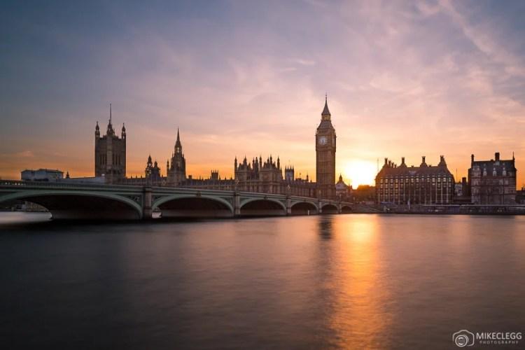 Londres, Reino Unido ao pôr do sol