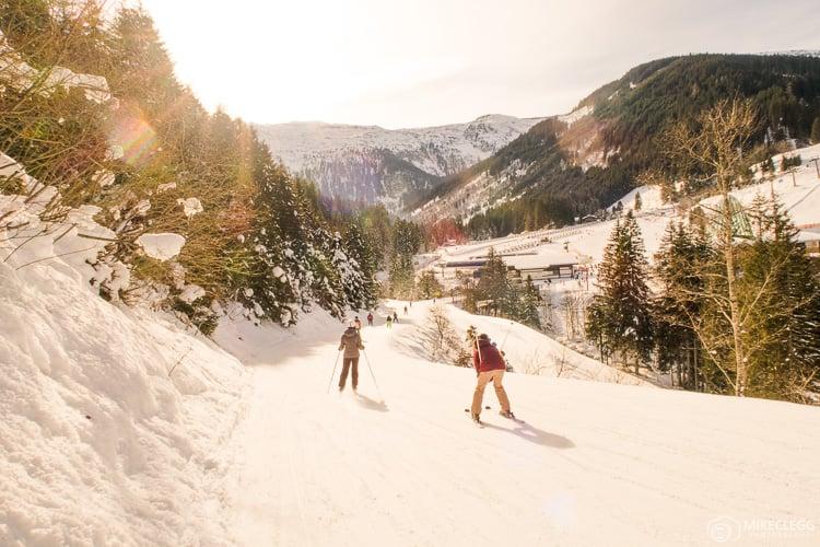 Esquiar em Gastein, Áustria