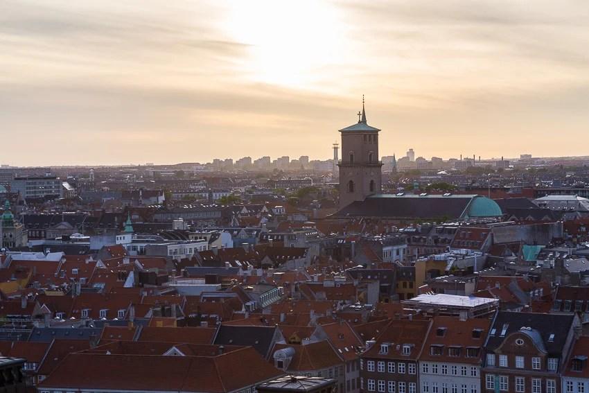 Pôr do sol em Copenhague