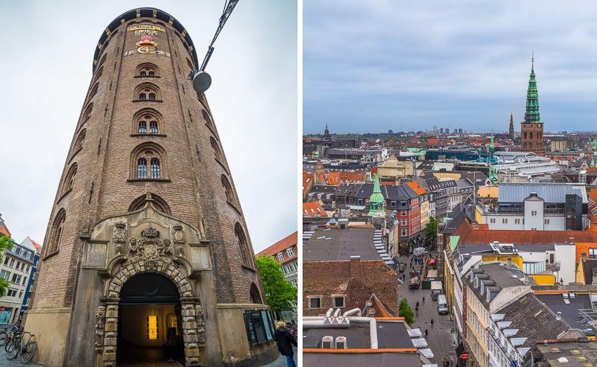 Vistas da Torre Redonda em Copenhague