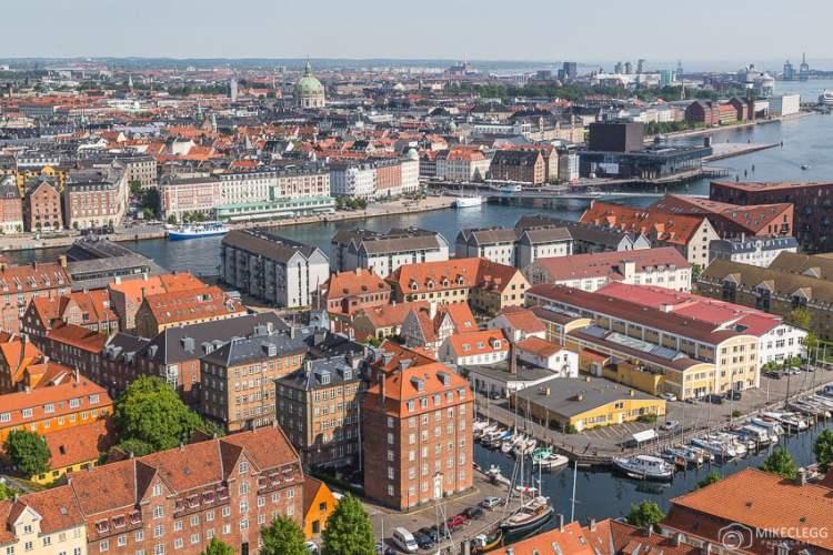 Imagens de Copenhague da Igreja do nosso Salvador