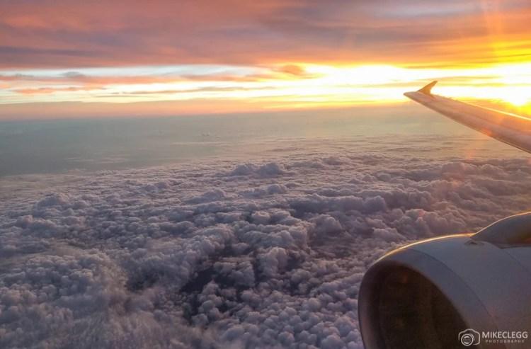 Vista de um avião
