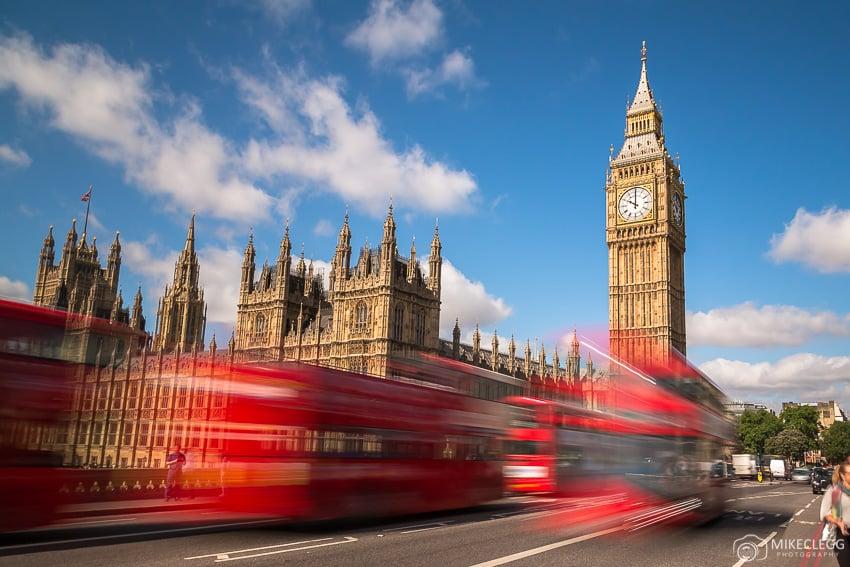 Ônibus de Westminster e Londres