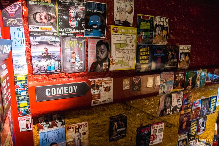 Cartazes para shows no Fringe Festival