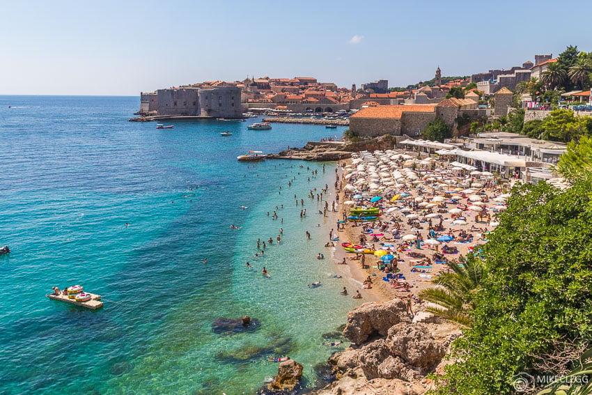 Praia de Banje, Dubrovnik no verão