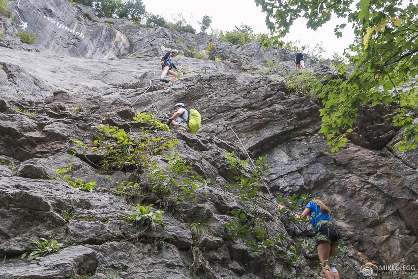 Escalada Via Ferrata - Die Zahme Gams, Saalachtal, Áustria