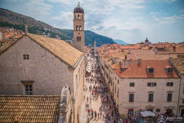 Stradun das muralhas da cidade, Dubrovnik
