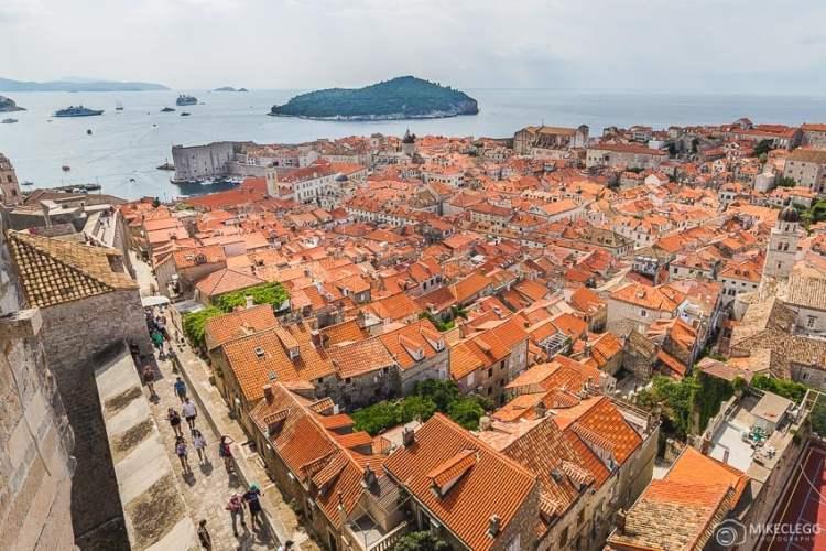 Vistas da Torre Minceta, Dubrovnik