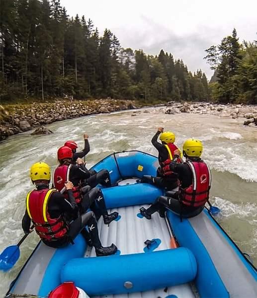Rafting no rio Saalach, Áustria