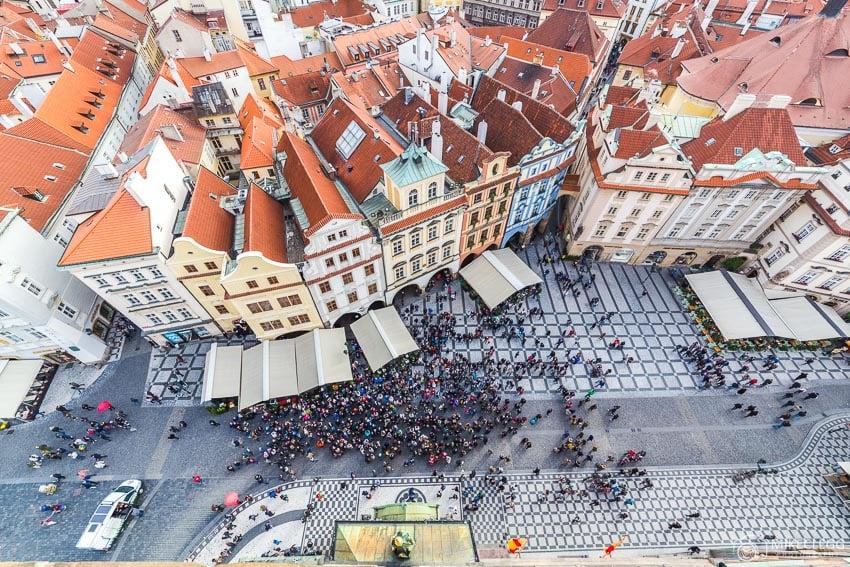 Vista de Praga da Torre da Antiga Câmara Municipal