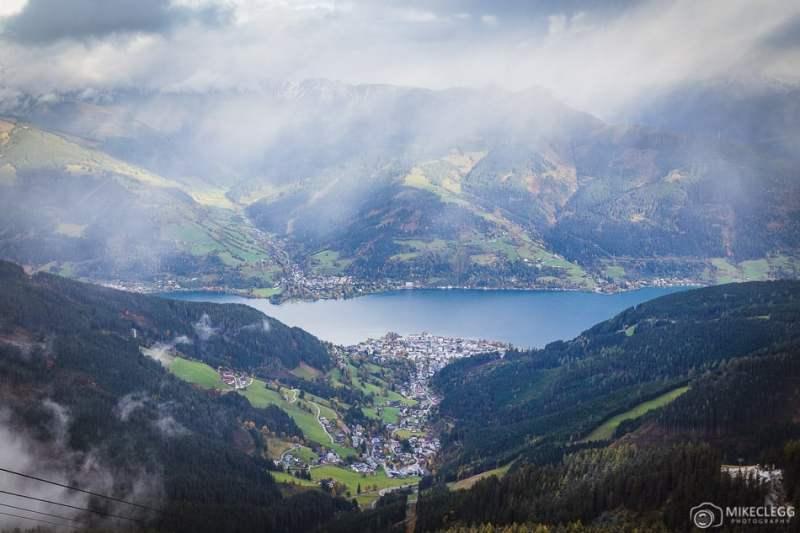 Vistas do Lago Zell de Schmittenhöhe