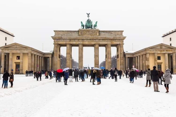 Portão de Brandemburgo no inverno
