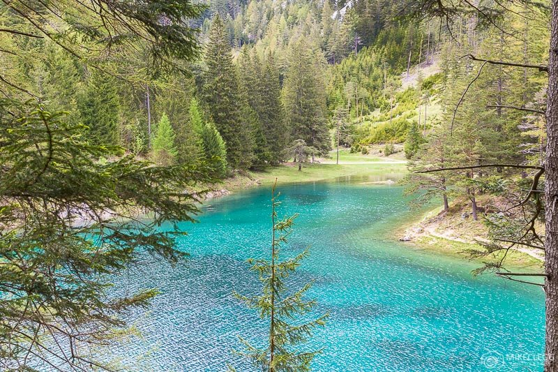 Pontos de vista elevados em Gruner See
